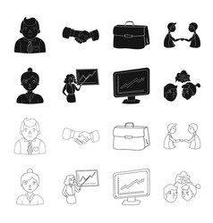 businesswoman growth charts brainstorming vector image