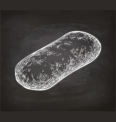 Chalk sketch of ciabatta vector