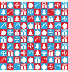 christmas background square vector image
