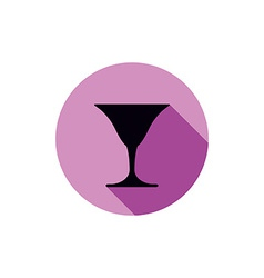 Classic full martini glass alcohol and vector image