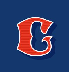 Classic style c letter sport logo vector