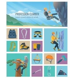 Climber Icon Flat vector image