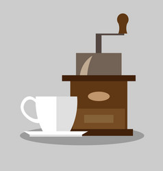 Coffee mill icon vector