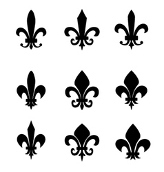 Collection of fleur de lis symbols vector image