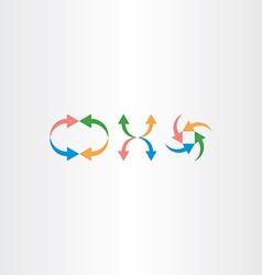 colorful arrow icon set element vector image