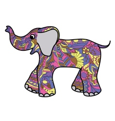 Colorful elephant vector image