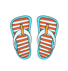 colorful flip flops vector image