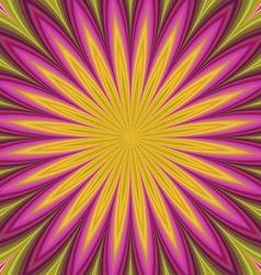 Colorful flower fractal design background vector