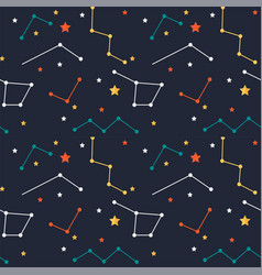 colorful shining stars pattern background i vector image