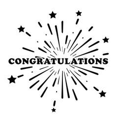 Congratulations congrats fireworks stars vector