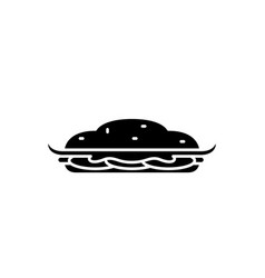 cooking cake black icon sign on isolated vector image