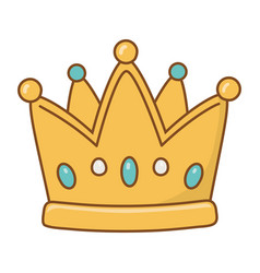 Crown icon cartoon vector
