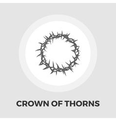 Crown thorns icon flat vector