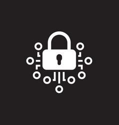 cryptography icon technology vector image