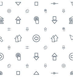 cursor icons pattern seamless white background vector image