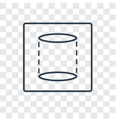 Cylinder concept linear icon isolated on vector