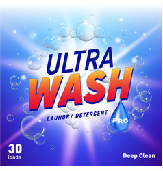 Detergent advertising concept design for product vector