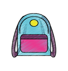 Drawing backpack school icon vector