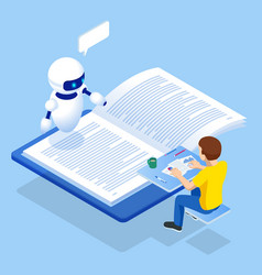 E-learning online education at home isometric vector