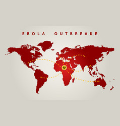 ebola world vector image