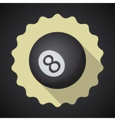 Eight 8 Ball Flat icon background vector image