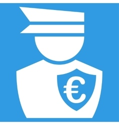 Euro Commissioner Icon vector image