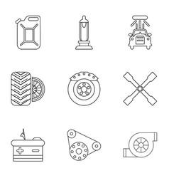fix auto icons set outline style vector image