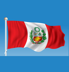 Flag peru vector