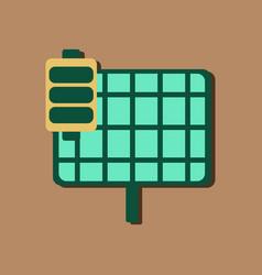 Flat icon design collection solar battery vector