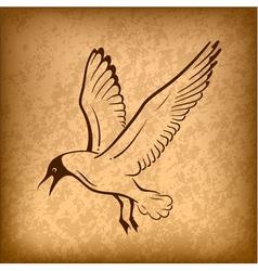 Flying bird background vector