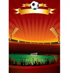 football stadium vector image