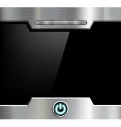 Futuristic black screen vector