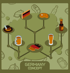 germany color concept isometric icons vector image