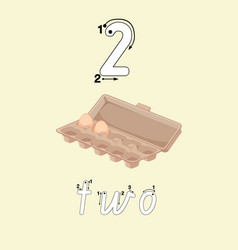 Guide to write number two vector