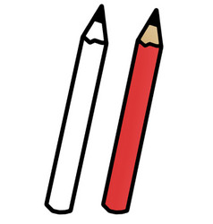Hand drawn red pen vector