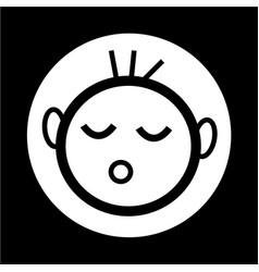 happy kid icon vector image