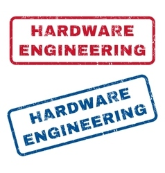 Hardware Engineering Rubber Stamps vector
