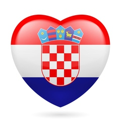 Heart icon of Croatia vector