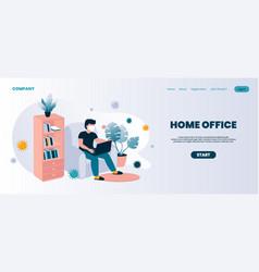 home office landing page coronavirus isolation vector image