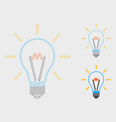Invent bulb mesh carcass model and triangle vector