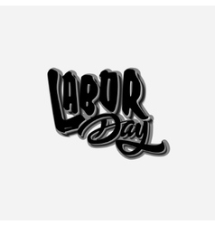 Labor day badges labels for any use vector image