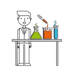 laboratory flat icon design vector image