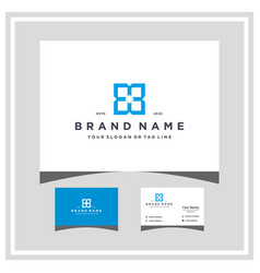 Letter b windod logo design and business card vector