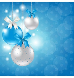Merry Christmas Silver And Blue Composition vector