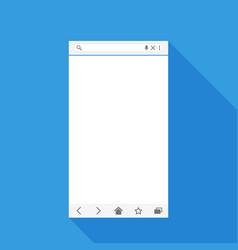 mobile web browser form vector image