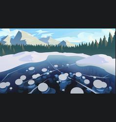 modern winter landscape background a frozen vector image