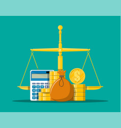 money balance concept vector image