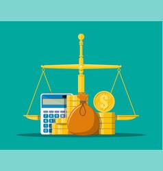 Money balance concept vector