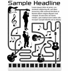 Music page vector