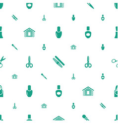 Nail icons pattern seamless white background vector